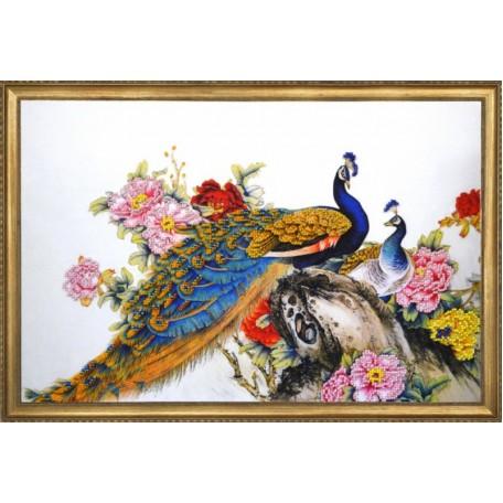 Набор для вышивания арт.Овен - 012-РТ 'Конголезский павлин' 40х26 см