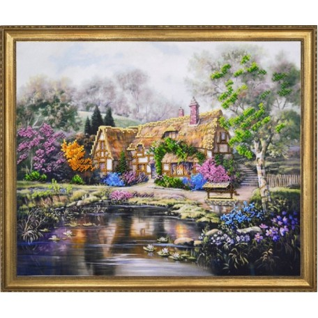 Набор для вышивания арт.Овен - 013-РТ 'Дом с лилиями' 40х34 см