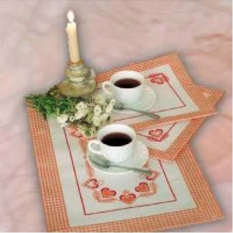 Набор для вышивания арт.Овен - 022 'Чай вдвоем' 55x35 см, 35x25 см