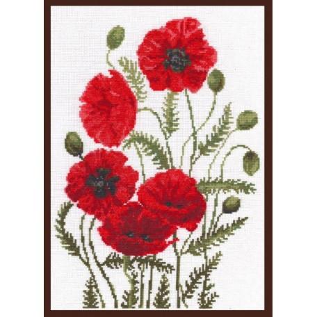 Набор для вышивания 'Палитра' арт.01.003 'Луговые маки' 24*33 см