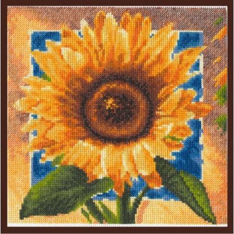 Набор для вышивания 'Палитра' арт.01.006 'Золотые лепестки' 20*20 см