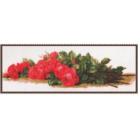 Набор для вышивания 'Палитра' арт.01.007 'Розы на столе' 59*20 см