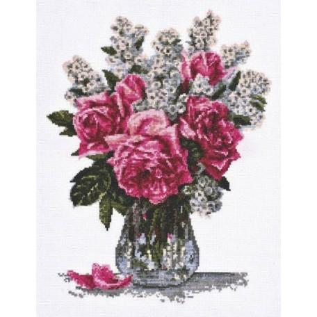 Набор для вышивания 'Палитра' арт.01.010 'Розовый букет' 25*33 см