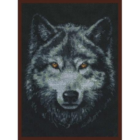 Набор для вышивания 'Палитра' арт.02.001 'Взгляд волка' 21*27 см
