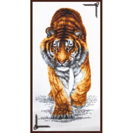 Набор для вышивания 'Палитра' арт.02.002 'Поступь тигра' 25*47 см