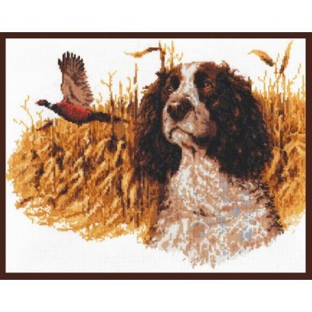 Набор для вышивания 'Палитра' арт.03.002 'Спаниэль с фазаном' 38*30 см