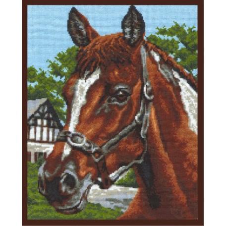 Набор для вышивания 'Палитра' арт.03.004 'Старая конюшня' 26*32 см
