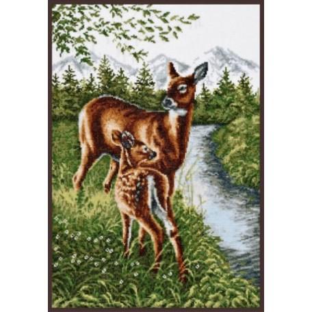 Набор для вышивания 'Палитра' арт.03.005 'Олени у ручья' 27*39 см