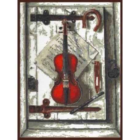 Набор для вышивания 'Палитра' арт.04.001 'Натюрморт со скрипкой' 29*40 см