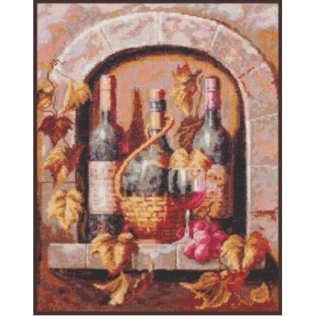 Набор для вышивания 'Палитра' арт.04.004 'Натюрморт с вином' 26х32 см