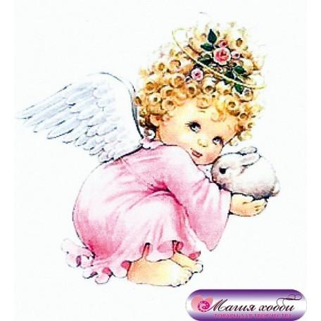 РТ130018 Папертоль 'Ангел в розовом' 11х11см