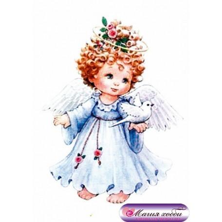 РТ130019 Папертоль 'Ангел в голубом' 9х12см