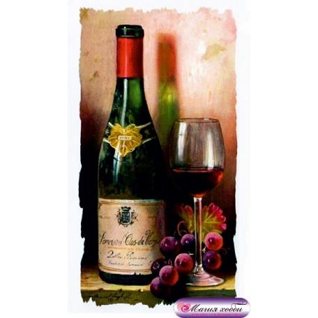 РТ130028 Папертоль 'Бутылка вина и виноград' 9х16см
