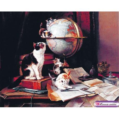 РТ130040 Папертоль 'Кошки и глобус' 20х16см