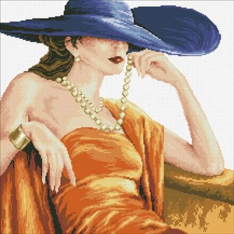 Набор 'Паутинка' для изготовления картины со стразами арт.М102 Прекрасная леди 50х50см