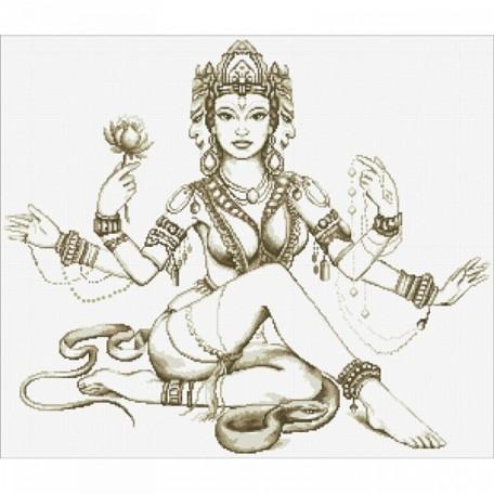 Набор 'Паутинка' для изготовления картины со стразами арт.М104 Мифы Индии 70х60см