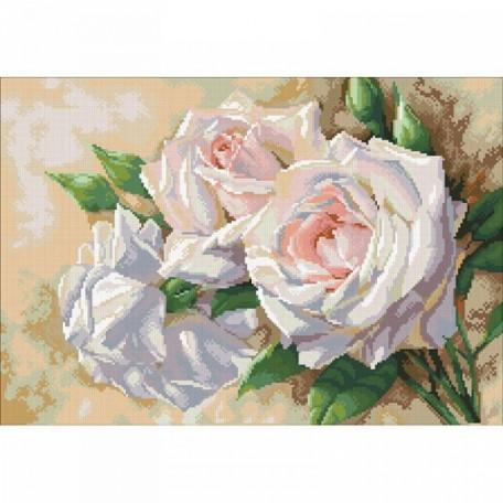 Набор 'Паутинка' для изготовления картины со стразами арт.М202 Античные розы 52х36см