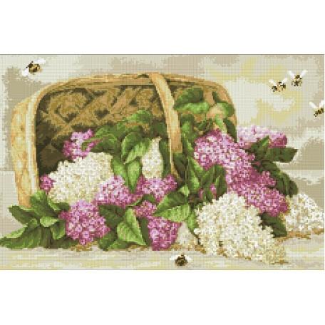 Набор 'Паутинка' для изготовления картины со стразами арт.М215 Аромат сирени 56х36 см