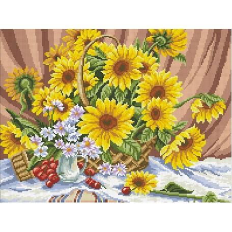 Набор 'Паутинка' для изготовления картины со стразами арт.М216 Щедрые дары 46х36 см