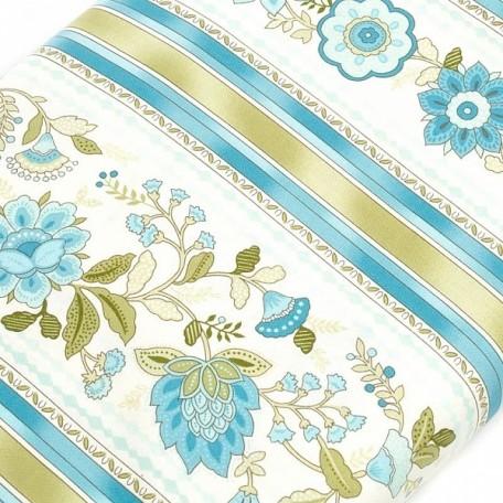 ST.A.C1737.AQUA Ткань для пэчворка 100 % хлопок шир.110 см Timeless Treasure Emma