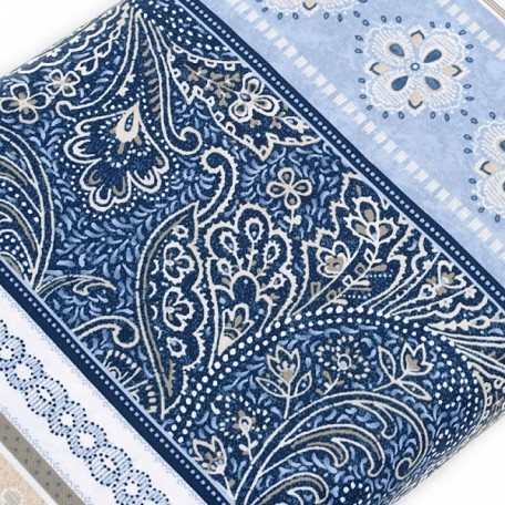 ST.A.C2464.BLUE Ткань для пэчворка 100 % хлопок шир.110 см Timeless Treasure Kumera Stripe