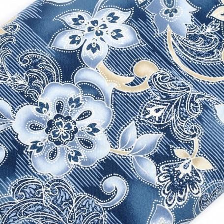 ST.A.C2747.DENIM Ткань для пэчворка 100 % хлопок шир.110 см Timeless Treasure Kumera Stripe