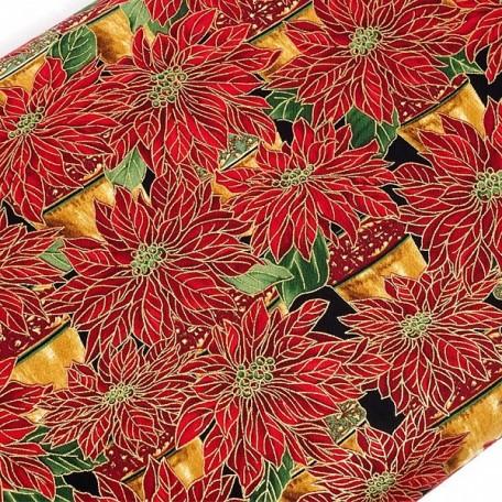 ST.G.CM1267.RED Ткань для пэчворка 100 % хлопок шир.110 см Timeless Treasure Poinsettias