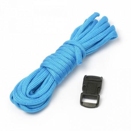 Набор для браслета из шнура (1 шнурок, 2,55 м) цв.бирюзовый