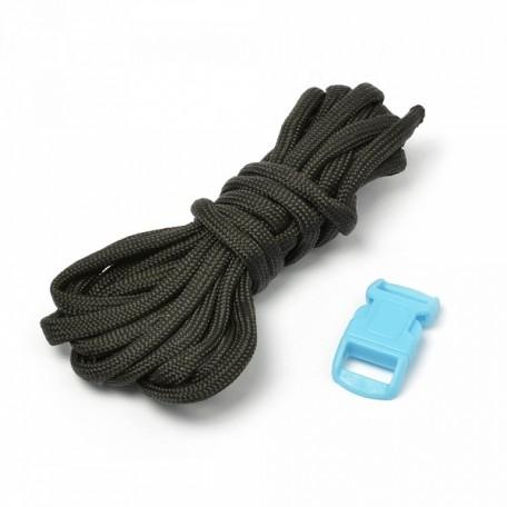 Набор для браслета из шнура (1 шнурок, 2,55 м) цв.черный