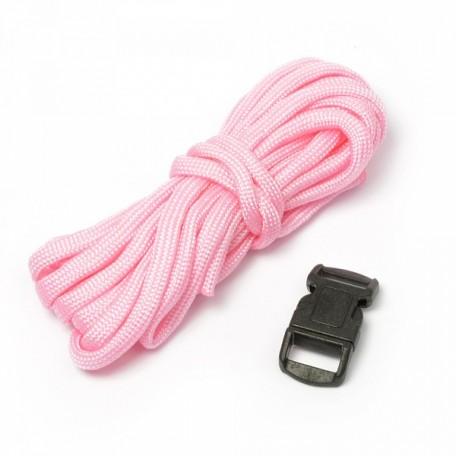 Набор для браслета из шнура (1 шнурок, 2,55 м) цв.розовый