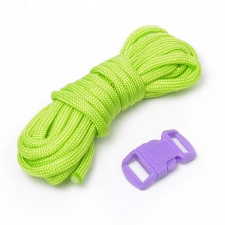 Набор для браслета из шнура (1 шнурок, 2,55 м) цв.салатовый