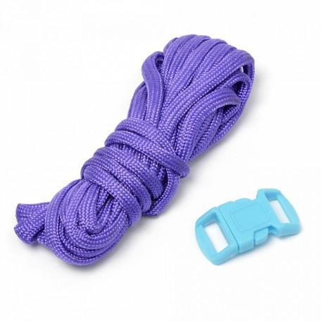 Набор для браслета из шнура (1 шнурок, 2,55 м) цв.сирень
