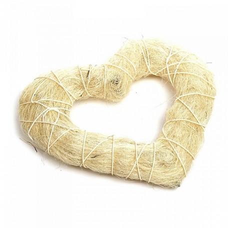 Декоративный венок Сердце арт.SCB370213 30х28см сизаль
