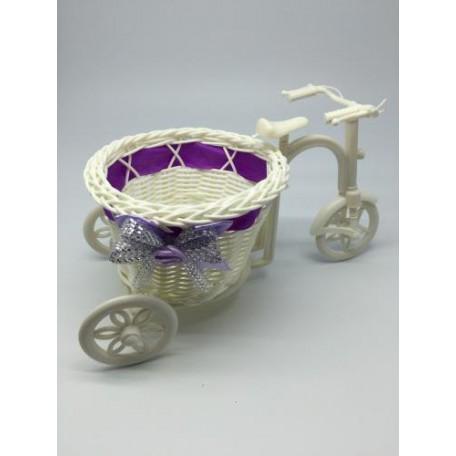Велосипед декоративный арт.СШ.XY-1.СВ.Ф цв.светло-фиолетовый 26х10х8см