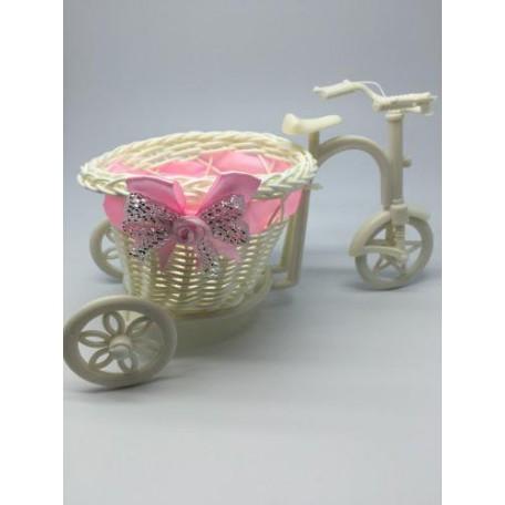 Велосипед декоративный арт.СШ.XY-1.СВ.РОЗ цв.светло-розовый 26х10х8см