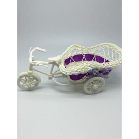Велосипед декоративный арт.СШ.XY-10.СВ.Ф цв.светло-фиолетовый 20х12х8см