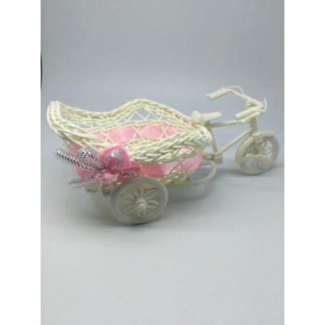 Велосипед декоративный арт.СШ.XY-10.СВ.РОЗ цв.светло-розовый 20х12х8см