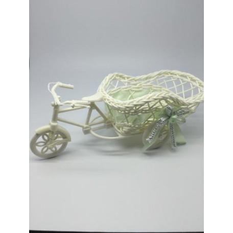 Велосипед декоративный арт.СШ.XY-10.СВ.ЗЕЛ цв.светло-зеленый 20х12х8см