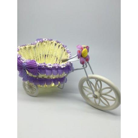 Велосипед декоративный арт.СШ.XY-2.СВ.Ф цв.светло-фиолетовый 24х12х15см