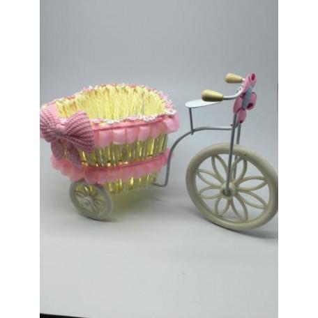 Велосипед декоративный арт.СШ.XY-2.СВ.РОЗ цв.светло-розовый 24х12х15см