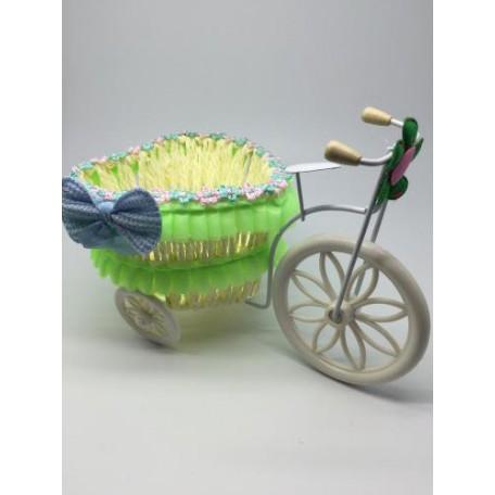 Велосипед декоративный арт.СШ.XY-2.СВ.ЗЕЛ цв.светло-зеленый 24х12х15см