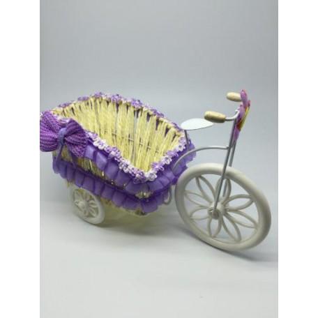 Велосипед декоративный арт.СШ.XY-3.СВ.Ф цв.светло-фиолетовый 24х12х15см