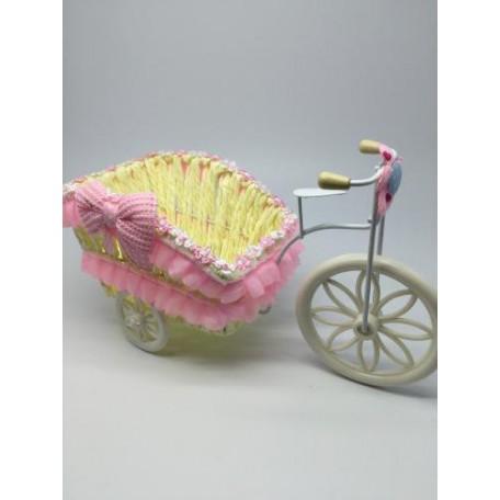 Велосипед декоративный арт.СШ.XY-3.СВ.РОЗ цв.светло-розовый 24х12х15см