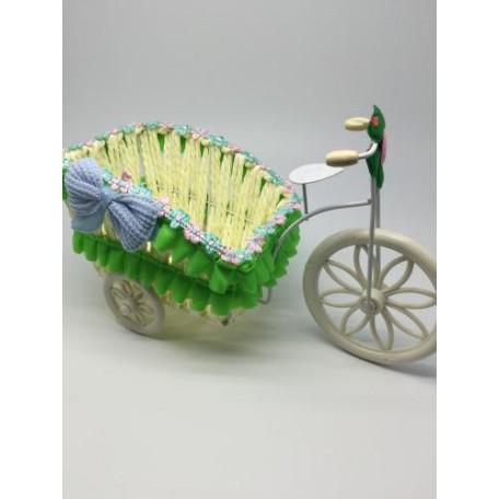 Велосипед декоративный арт.СШ.XY-3.СВ.ЗЕЛ цв.светло-зеленый 24х12х15см