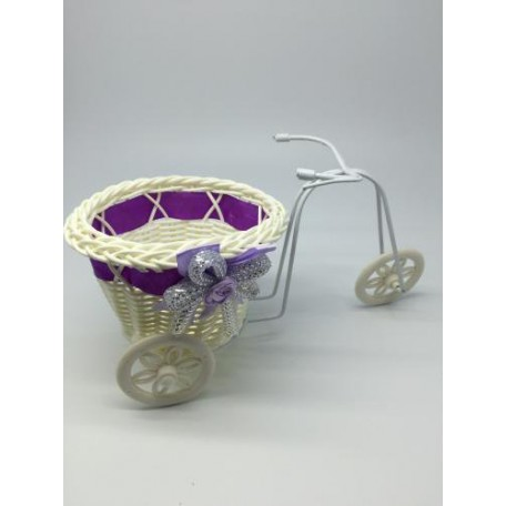 Велосипед декоративный арт.СШ.XY-5.СВ.Ф цв.светло-фиолетовый 22х11х11см