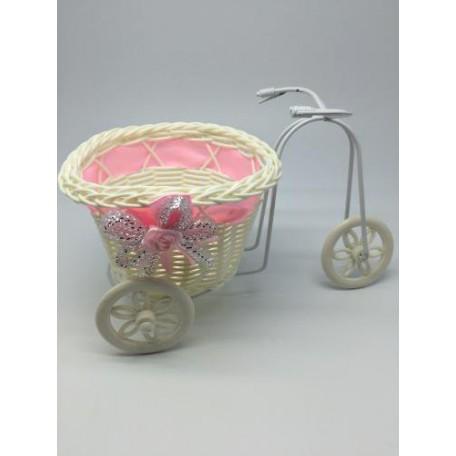 Велосипед декоративный арт.СШ.XY-5.СВ.РОЗ цв.светло-розовый 22х11х11см