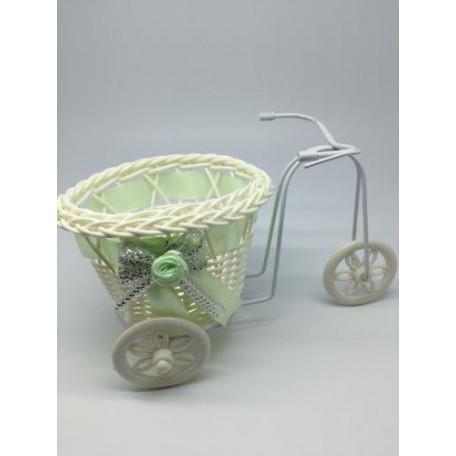 Велосипед декоративный арт.СШ.XY-5.СВ.ЗЕЛ цв.светло-зеленый 22х11х11см