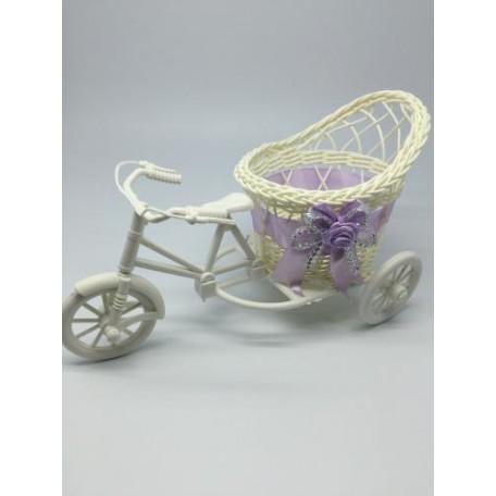 Велосипед декоративный арт.СШ.XY-6.СВ.Ф цв.светло-фиолетовый 20х11х9см