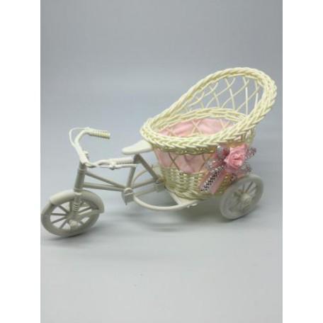 Велосипед декоративный арт.СШ.XY-6.СВ.РОЗ цв.светло-розовый 20х11х9см