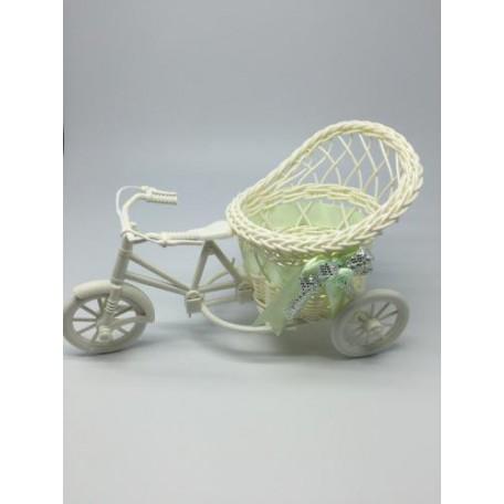 Велосипед декоративный арт.СШ.XY-6.СВ.ЗЕЛ цв.светло-зеленый 20х11х9см